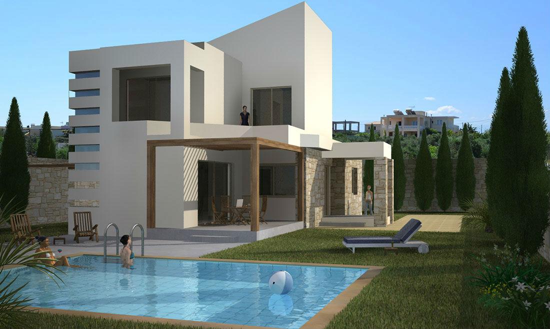 Two-Storey Residences in Tavronitis