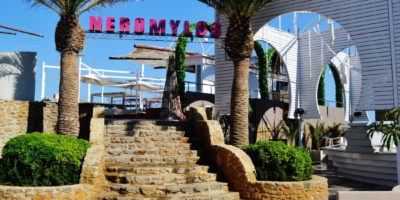 Ανακαίνιση του Neromylos Beach Bar