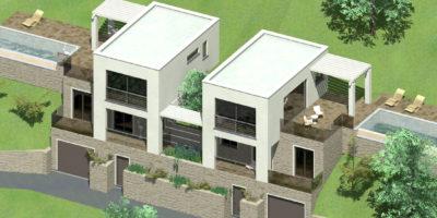 Διώροφες κατοικίες στην περιοχή Κόκκινο Χωριό